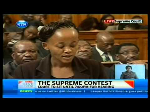 Supreme court trial with Kethi Kilonzo representing AFRICOG petition