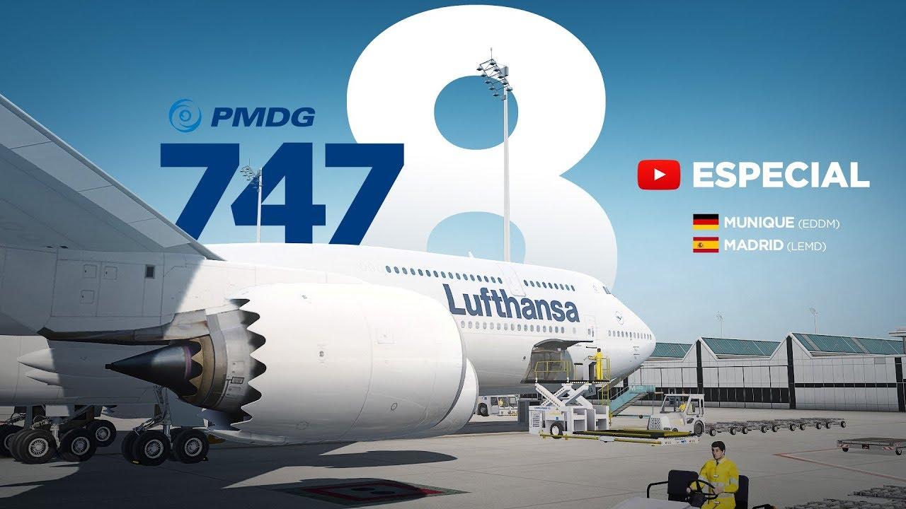 REVIEW PMDG 747-8 / Munique → Madrid