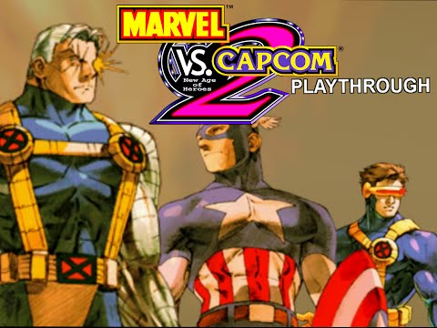 Marvel VS Capcom 2 - Cable/Captain America/Cyclops Playthrough