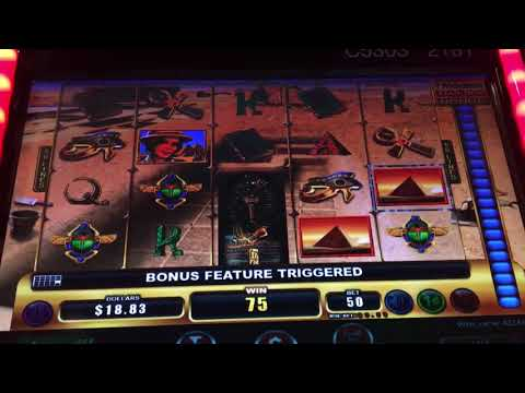 Live Play & Bonus - Uncovering Egypt Slot Machine - Tile Trigger