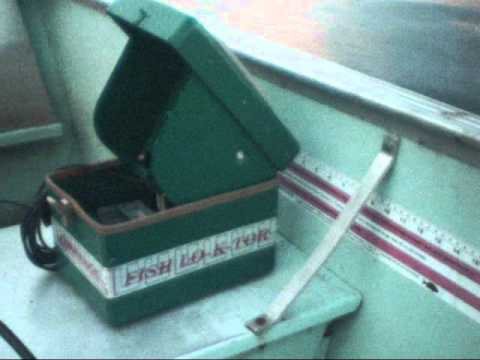 Antique Lowrance Depth Finder- Green Box