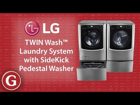 LG TWIN Wash™ Laundry System With Pedestal Washer