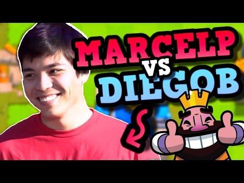 2 Clash Royale TOP PLAYERS HEAD-TO-HEAD! PRO VS PRO Diegob vs Marcelp