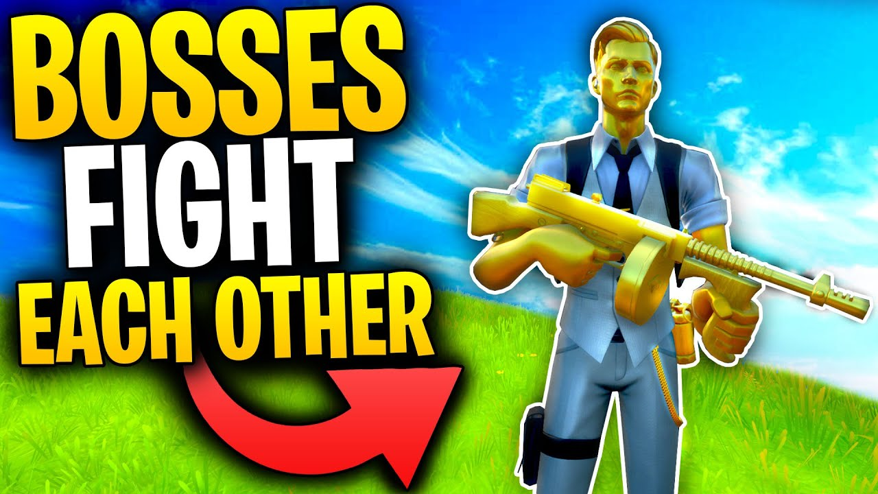 Can TWO HENCHMAN BOSSES Fight EACH OTHER In Fortnite Battle Royale? | Mythbusters