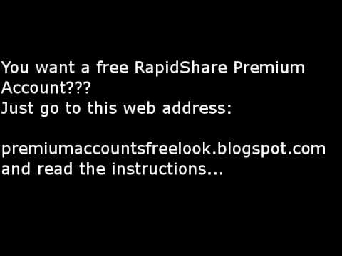 Free Rapidshare, Megaupload, Uploaded.to Premium Account!!! from YouTube · Duration:  25 seconds