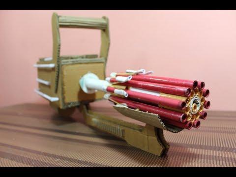How to make a cardboard minigun - that shoot bullets