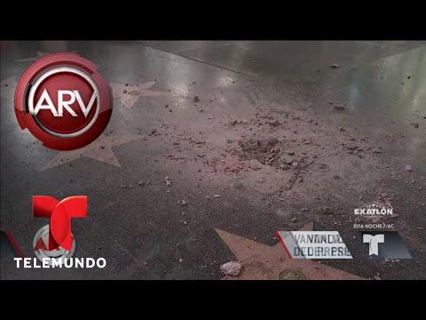 Vandalizan estrella de Donald Trump en Hollywood | Al Rojo Vivo | Telemundo