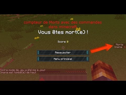 tuto faire un compteur de morts avec des commandes dans minecraft youtube. Black Bedroom Furniture Sets. Home Design Ideas