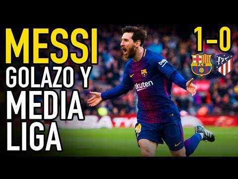MESSI DA MEDIA LIGA AL BARÇA CON UNA FALTA MAGISTRAL | BARCELONA 1-0 ATLÉTICO DE MADRID