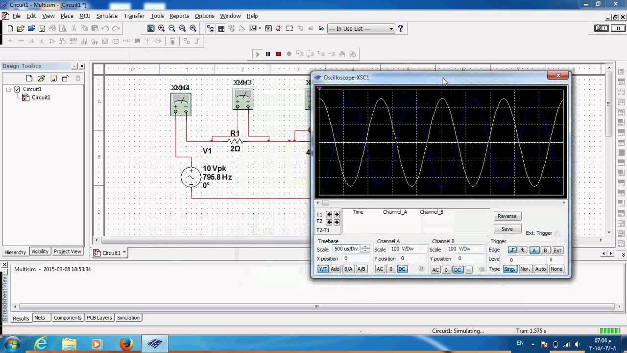 using ni multisim to design and simulate rlc series resonance youtube rh youtube com Multisim Switches Multisim Examples