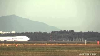 Boeing 747 8KZFSCD Nippon Cargo Airlines JA13KZ Narita Airport RWY 34L 2