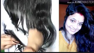 How to do U shape hair cut step by step