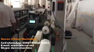 Toilet Paper Rolls Production Line ( 1 rewinder + 2 band saw cutters + single roll packing)