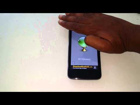 Micromax Canvas Juice A177 Light Sensor Test