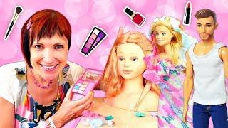 Маша Капуки работает в Салоне красоты! Игры макияж Барби - Мультики для девочек