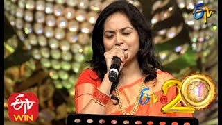 Sunitha Performs - Bharatha Vedamuga Song in ETV @ 20 Years Celebrations - 16th August 2015