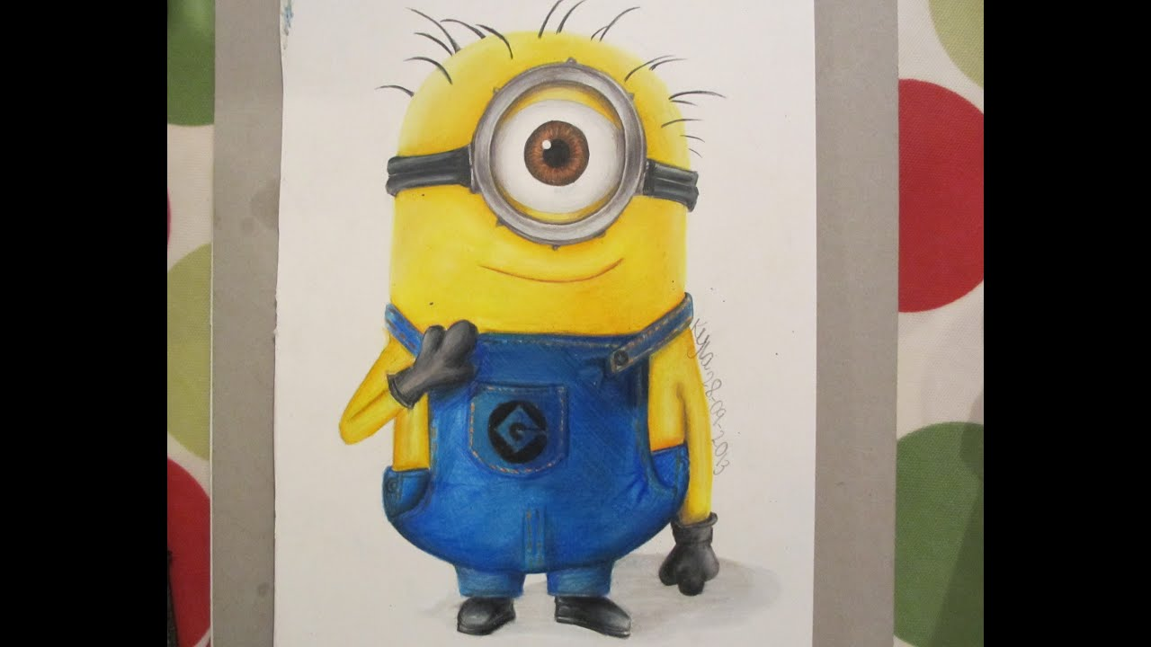 Show me how to draw a minion - Drawing A Minion From Despicable Me Using Prismacolors Kylasart Youtube