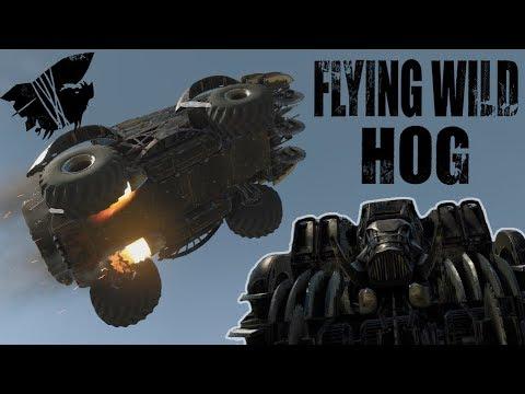 Crossout: [ Tusk & Rocket booster x6 ] FLYING WILD HOG [ver. 0.9.30]