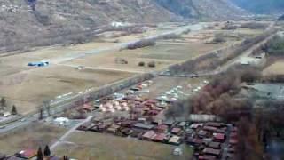 Rhonedal (Wallis)vanuit de kabelbahn van Unterbäch Zwitserland