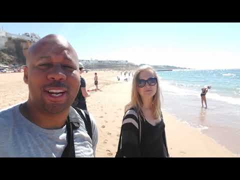 Exploring Albufeira Portugal From Faro. Most Beautiful Beaches I've Seen In Europe