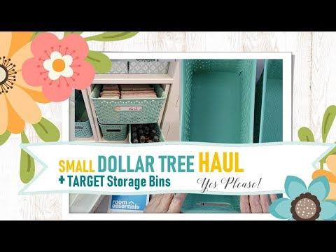 Small Dollar Tree Haul + Target Storage Bins + Kallax Storage