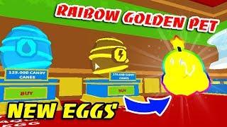 I MAKE RAINBOW GOLDEN THUNDER PET *UPDATE* In ICE CREAM SIMULATOR!! (Roblox)