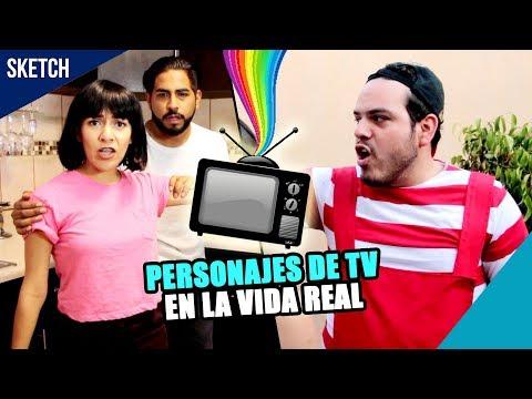 PERSONAJES DE TV EN LA VIDA REAL - Take Uno Tv