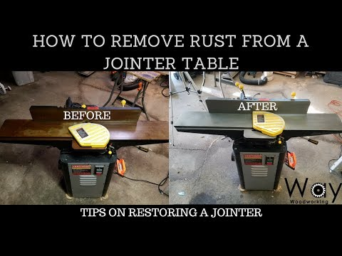 How To Remove Rust From A Jointer Table