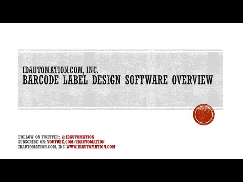 Barcode Label Design Application Software Overview by IDAutomation.com