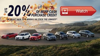 GM EXAMPLE: Buick 20% of MSRP Offers October 2018