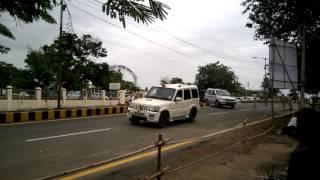 Indian president Pranav Mukherjee convoy in Solapur