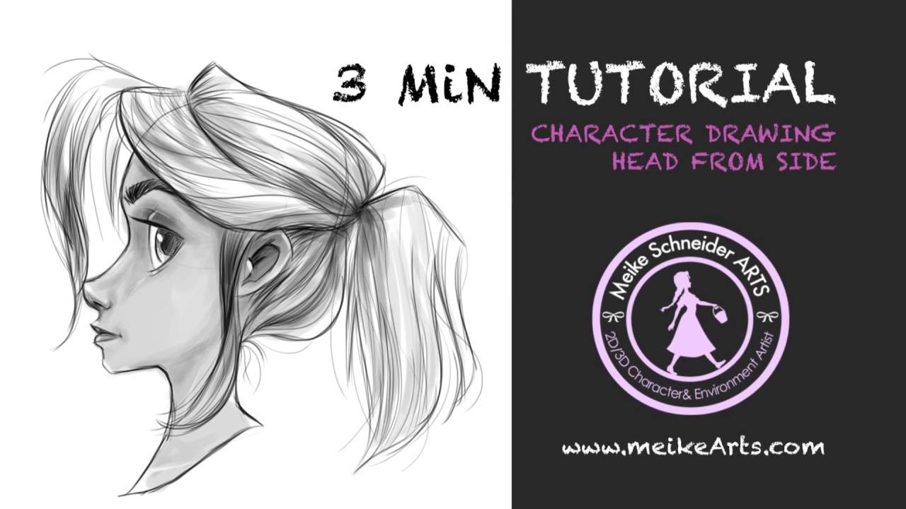 3 min tutorial drawing a girl from profile by meikearts youtube
