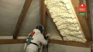 Izolacja poddasza pianką poliuretanową Icynene