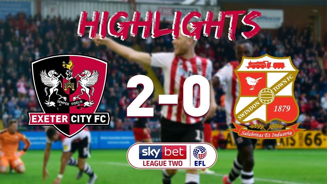 Exeter City 2 Swindon Town 0 (14/10/18) EFL Sky Bet League ...