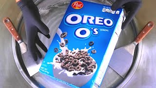 satisfying ice cream rolls with oreo os cereal rolled fried oreo ice cream street food asmr