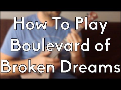 Boulevard of Broken Dreams - Ukulele Tutorial Learn Beginner Songs w/tabs and solo