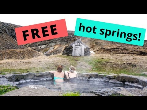 5 FREE Hot Springs in Iceland