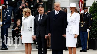 Trump hosts French President Macron for White House state dinner