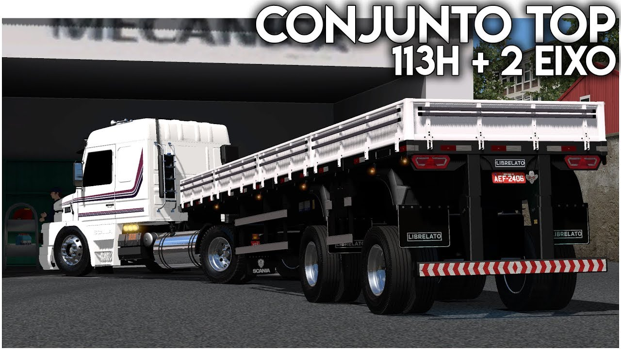 MOD | SCANIA 113H NO TOCO + 2 EIXO TOP | Euro Truck 2 1.34