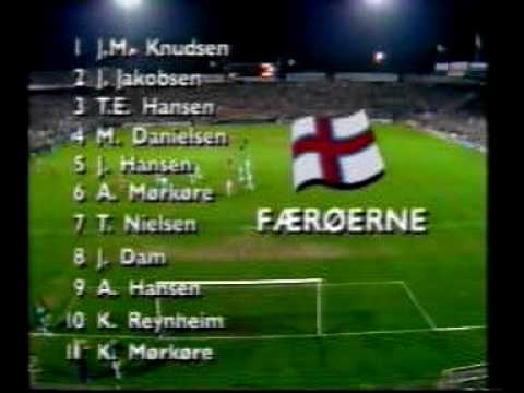 Denmark - Faroes 4-1. Euro-92 qualifiers. Part 1. Fantastic Old Parken atmosphere