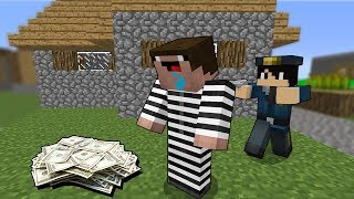 Преступник ограбил банк Копа в Майнкрафт! Копы и Преступники Нуб Minecraft 100% Троллинг