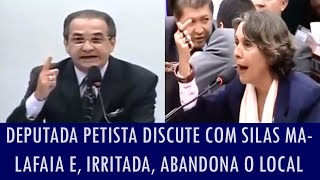 Deputada petista discute com Silas Malafaia, se irrita e abandona comissão