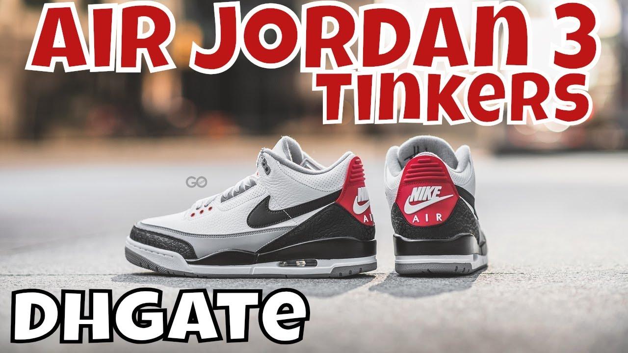 Dhgate Air jordan 3 Tinkers Exclusive