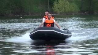 Тест надувной моторной лодки из ПВХ М350 производства ООО