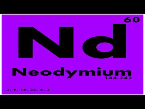 Study Guide 60 Neodymium Periodic Table Of Elements Youtube