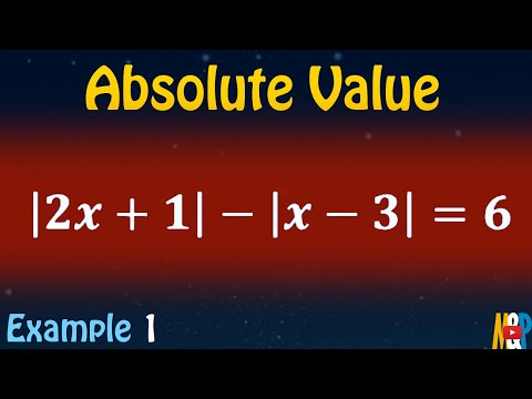 Absolute Value Example 1 - Using Sign Table
