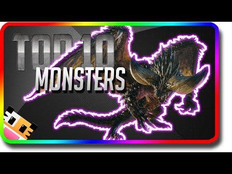 Monster Hunter World - Top 10 Monsters in MHW (Monster Hunter World Best Monster Gameplay)