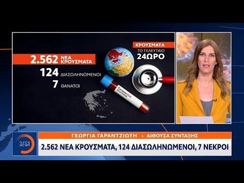 Κορωνοϊός: 2.562 νέα κρούσματα – 124 διασωληνωμένοι – 7 νεκροί | Κεντρικό Δελτίο Ειδήσεων 17/7/2021