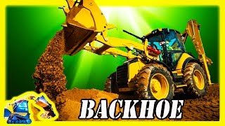 Kids Backhoe Construction Machine – Working on the job site