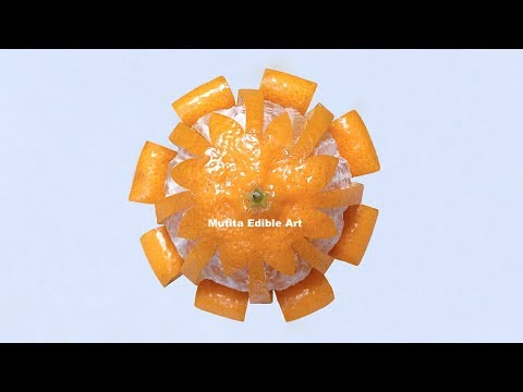 Orange | Simple Pattern | Imperial Mandarin | Beginners Lesson 164 | Mutita Art Of Fruit & Vegetable